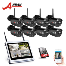 ANRAN 2017 NEW 8CH Wireless Surveillance System 12″LCD Screen Wifi NVR 720P HD H.264 Outdoor Night Vision Security Camera Sys