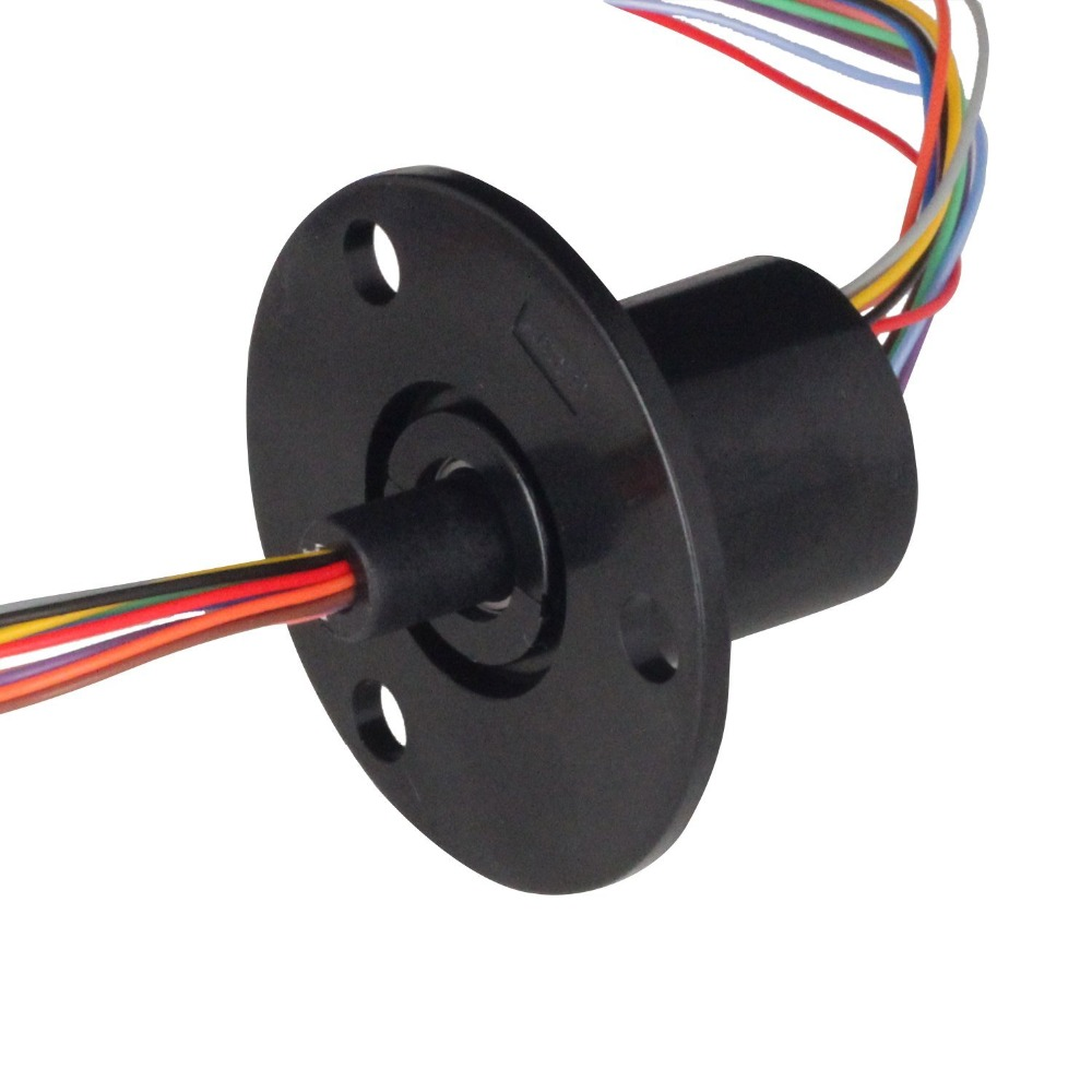 FREE Ship 22MM 300 RPM 12 Circuits  2A Capsule Slip Ring 12Conductors rotary electrical collector