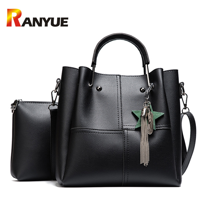 Fashion Star Women Composite Bag Set Designer PU Leather Shoulder Bag Women Handbags Big Capacity Casual Tote Patchwork Bags Sac pu leather women bag big casual tote vintage patchwork woman shoulder bags luxury handbags famous brand designer women handbag
