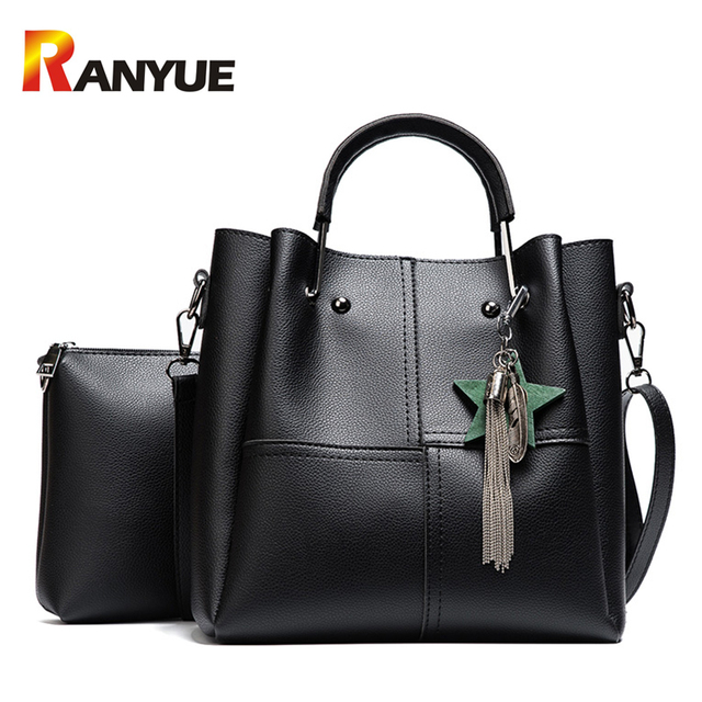 b1f505590674 Fashion Star Women Composite Bag Set Designer PU Leather Shoulder Bag Women  Handbags Big Capacity Casual Tote Patchwork Bags Sac