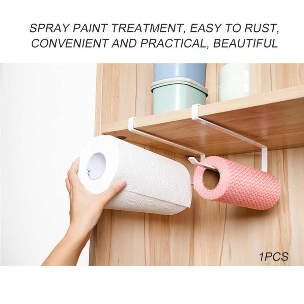 Praktyczna kuchnia papier toaletowy ręcznik papierowy uchwyt na półkę kreatywny nie cios szafka serwetki wieszak folia do mocowania folii szafa drzwi
