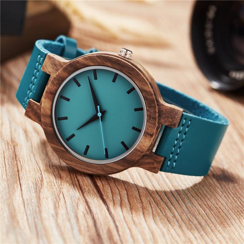 Quartzo Relógio De Madeira Minimalista Presentes de Natal Reloj Mujer