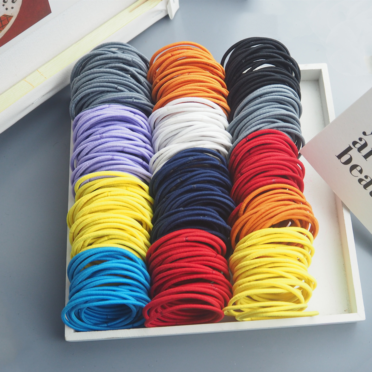 /50PCS Women Elastic Fine 5cm Hair Bands Candy Colors Rubber Band Ponytail Holder Gum For Women Headband Hair Rope  Accessories