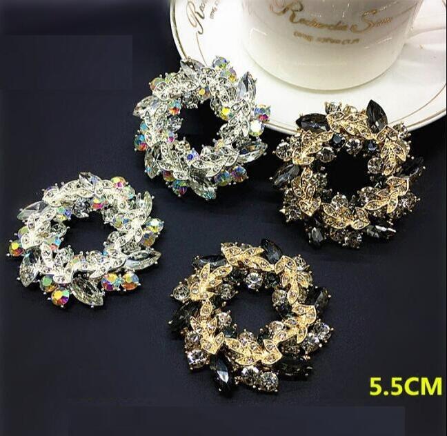 1 Para Von High-grade Glänzende Farbe Von Rund Diamant Schuhe Blume Schuh Schnalle Schuhe Zubehör C-18 RegelmäßIges TeegeträNk Verbessert Ihre Gesundheit