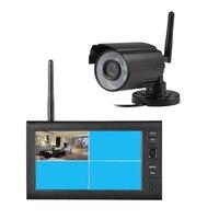 7 Inch 2 4G WiFi Wireless Digital Cctv Security Camera System Outdoor IR Camera 4CH LCD