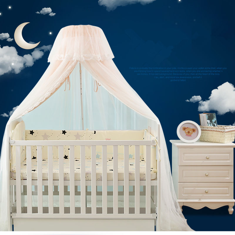 Door Type Baby Bed Mosquito Net Double Layer Baby Mosquito Nets Universal Crib Netting with inner Chiffon Curtain tenda infantil недорго, оригинальная цена