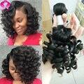 Top 10a Brazilian Virgin Funmi Hair Unprocessed Aunty Funmi Bouncy Curls Cheap Human Hair 3 Bundle Deals Summer Curl Bob Weave