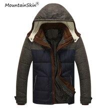 Mountainskin 2017 herren Winter Jacken Mit Kapuze Mäntel Männlichen Dicke Thermische Jacke Slim Fit Männer Marke Outer Plus Größe LA542