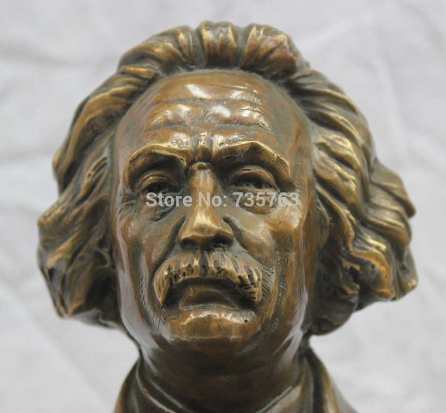 001206 11 ''Pure Bronzo Albert Einstein Busto Statua Testa