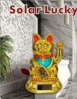 [ Fly Eagle ] Lucky Cat Waving Solar Power Powered Chinese Oriental Fortune Gold Maneki Neko Golden 044 223 X 470pcs