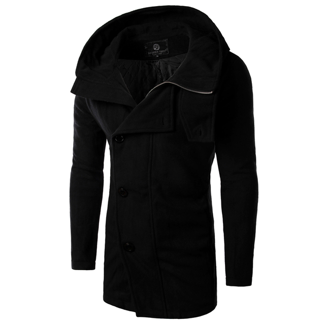 Aliexpress.com : Buy Mens Pea Coat 2016 Mens Fashion Diagonal ...