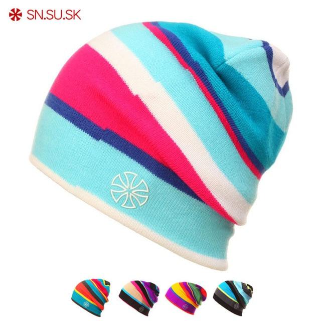 SK New Snowboard Winter Knit Caps Casual Skating Lot Snowboard Hats Skullies aba2c218eb5
