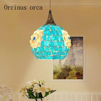 Средиземноморский светодиодный светильник для ресторана, индивидуальная люстра на балкон, лестница, коридор, креативные светильники Bohemia