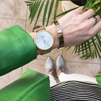 2017 SINOBI Fashion Casual Women QuartzWatches Bracelet Leather Strap Ladies Golden Wrist Watch Luxury Brand Relogio