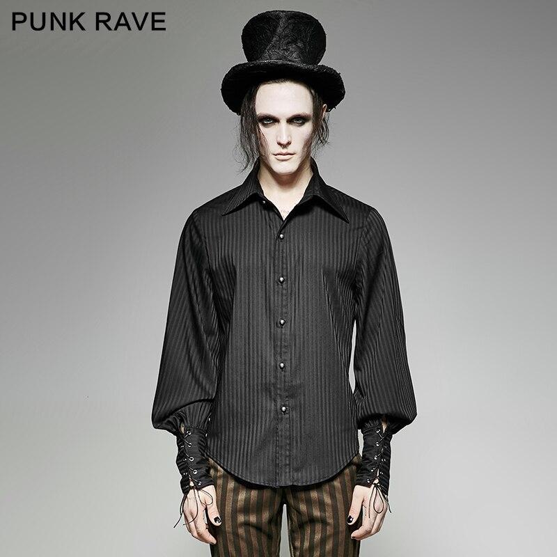 Punk Rave punk de vapeur complet manches chemise rayée Y-719