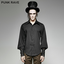 Punk Rave steam punk full sleeve striped shirt Y-719