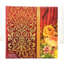 Новые высококлассные винтажные красные цветочные бумажные салфетки кафе вечерние салфетки для салфеток украшение в технике декупажа