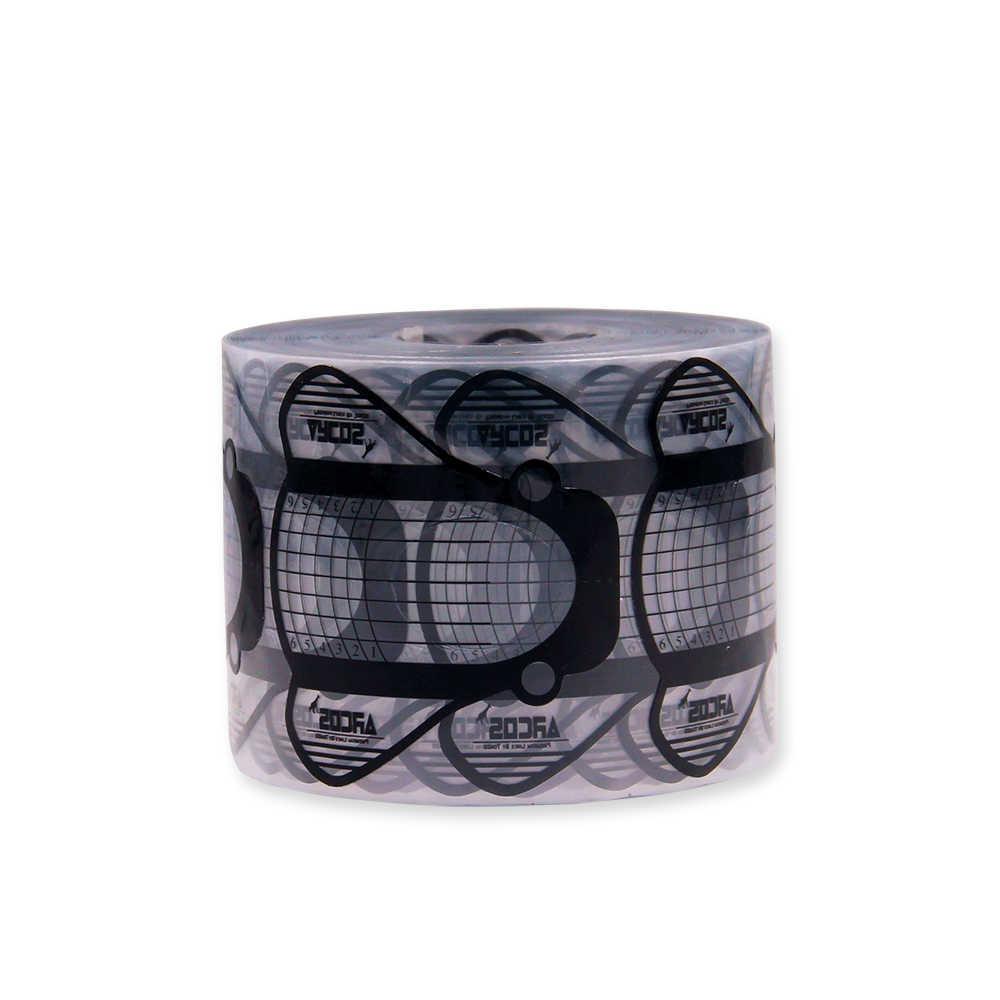 Kuku Bentuk PVA 100Pcs Nail Art Bahasa Perancis Akrilik Sinar UV Gel Tips Ekstensi Pembangun Bentuk Styling Panduan Stensil Manikur alat
