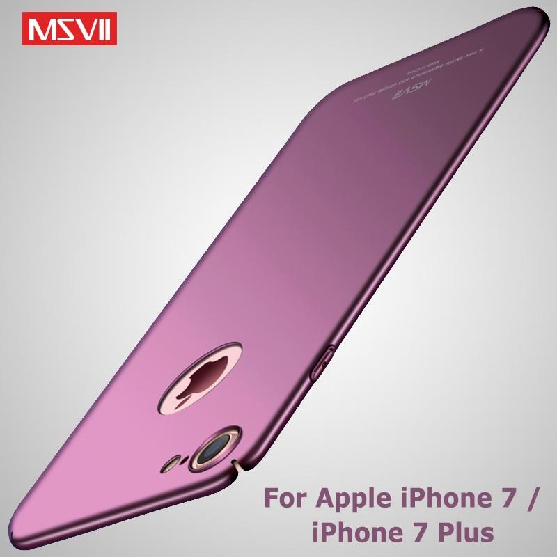 7362152986a MSVII fundas para iPhone 7 funda de lujo mate Coque para iPhone 8 Plus  funda de PC dura 8 Plus fundas para Apple iPhone 7 Plus
