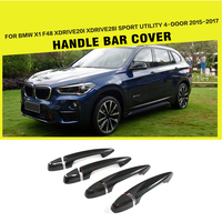 F48 X1 Carbon Fiber Car Side Door Handle Bar Covers Trims For BMW X1 F48 XDrive