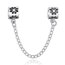 c3e1e2c30 TOP Quality Hot 925 Silver Safety Chain Charm Beads Fit Original Pandora  Bracelet Pendants For Women DIY Jewelry Free Shipping