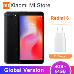 Глобальная версия Xiaomi Redmi 6 4 Гб 64 Гб Helio P22 Octa Core cpu 5,45