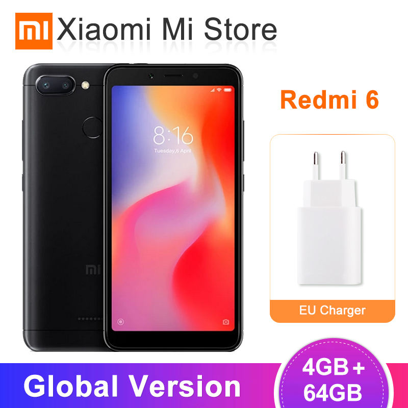 Global Versão Xiaomi Redmi 6 4GB GB Helio 64 P22 Octa Core 5.45