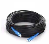 100m Outdoor Fiber Optic FTTH Drop Cable Patch Cord SC to SC Simplex SM SC SC 100 Meters Drop Cable Patch Cord