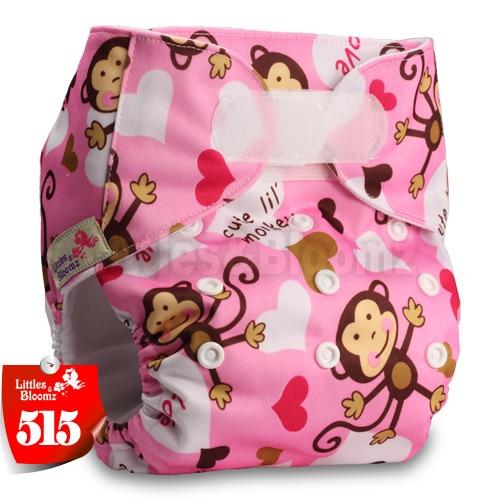 [Littles&Bloomz] Один размер многоразовые тканевые подгузники Моющиеся Водонепроницаемые Детские карманные подгузники стандартная застежка на липучке - Цвет: 515