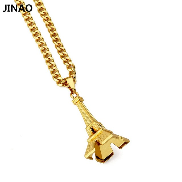 Jinao popular hip hop tide jewelry chain paris eiffel tower pendant jinao popular hip hop tide jewelry chain paris eiffel tower pendant necklace aloadofball Image collections
