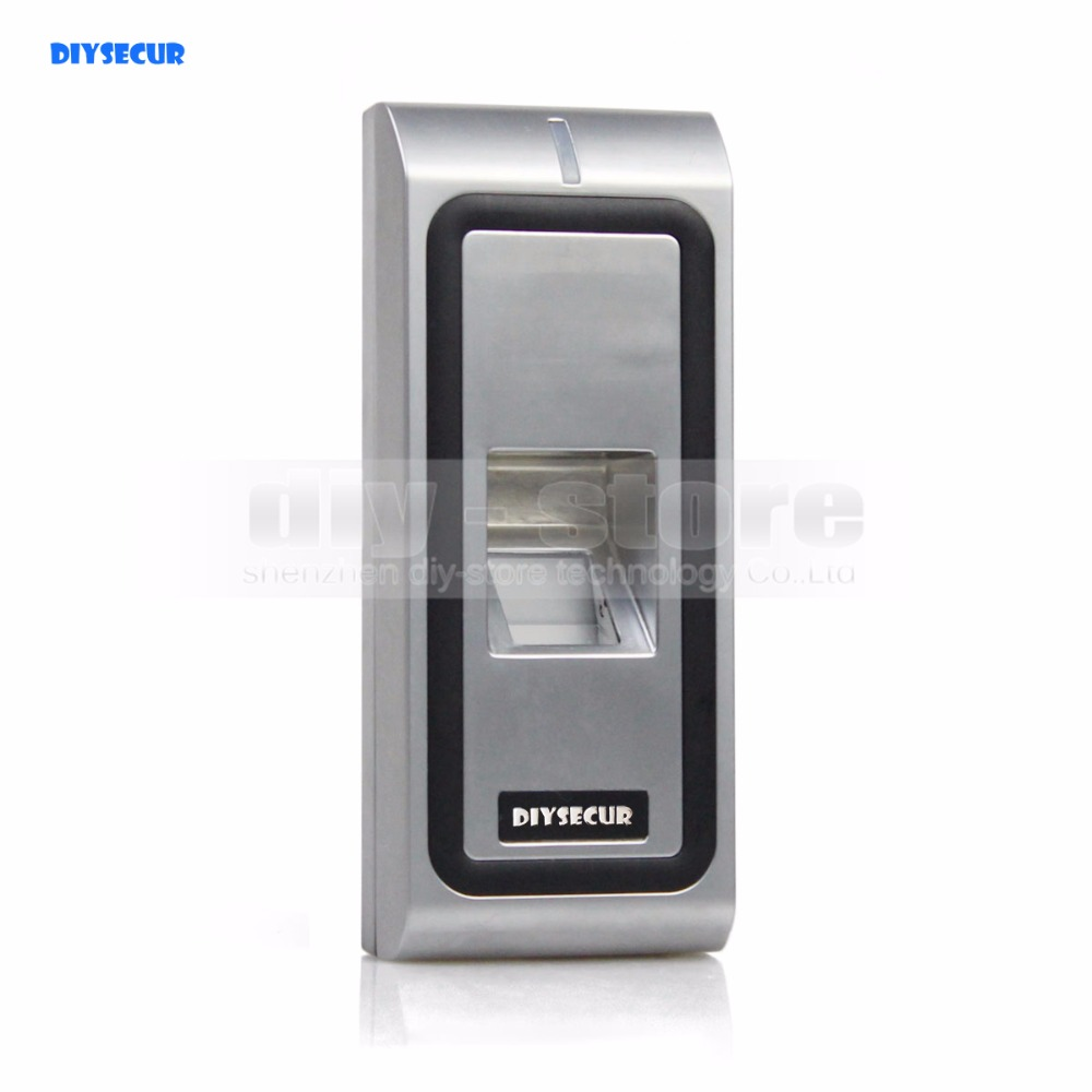 DIYSECUR Metal Case Fingerprint 125KHz RFID ID Card Reader 2 In 1 + Remote Control Door Lock Access Controller Kit CFR10