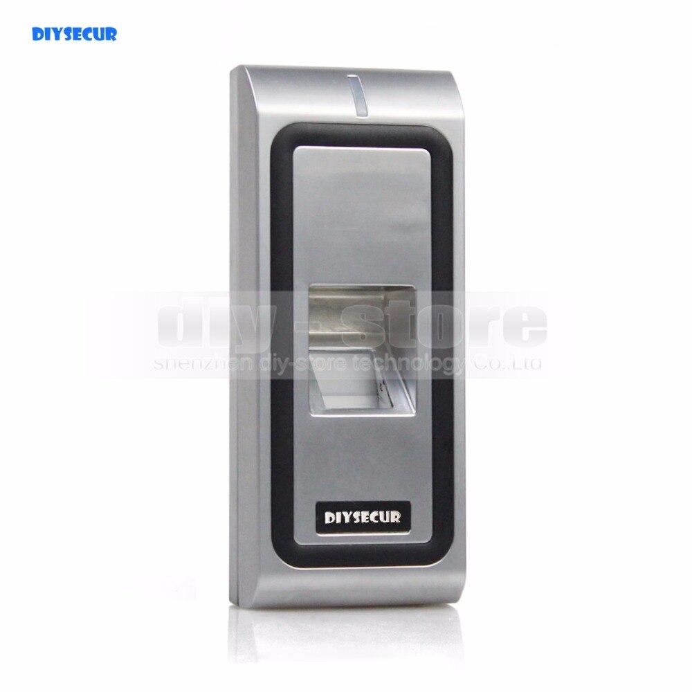 Diysecur металлический корпус отпечатков пальцев 125 кГц RFID ID Card Reader 2 в 1 + Дистанционное управление двери блокировка доступа Управление; комплек…