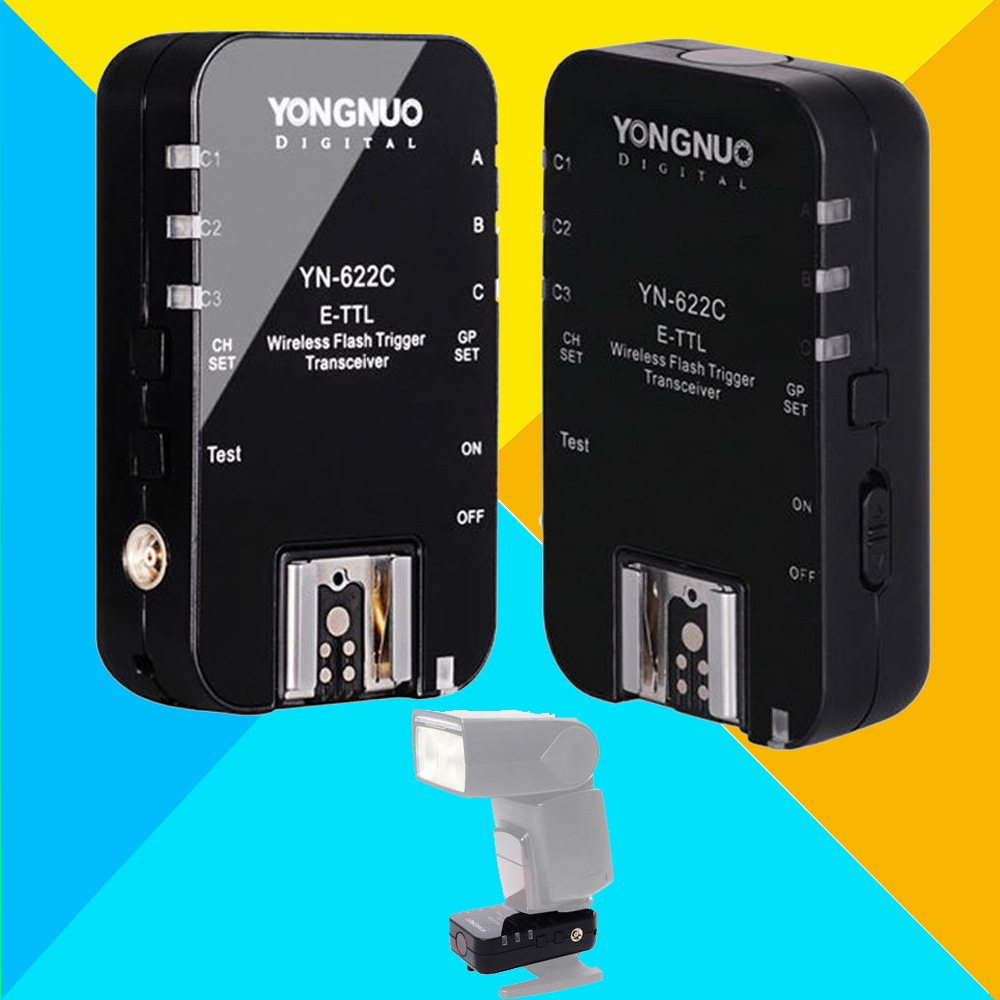 Yongnuo YN-622C Wireless ETTL Flash Trigger Receiver Transceiver YN622C 1/8000s High Sync Speed 2Pcs For Canon 6d 60d 5d3 Camera 2x yongnuo yn600ex rt yn e3 rt master flash speedlite for canon rt radio trigger system st e3 rt 600ex rt 5d3 7d 6d 70d 60d 5d