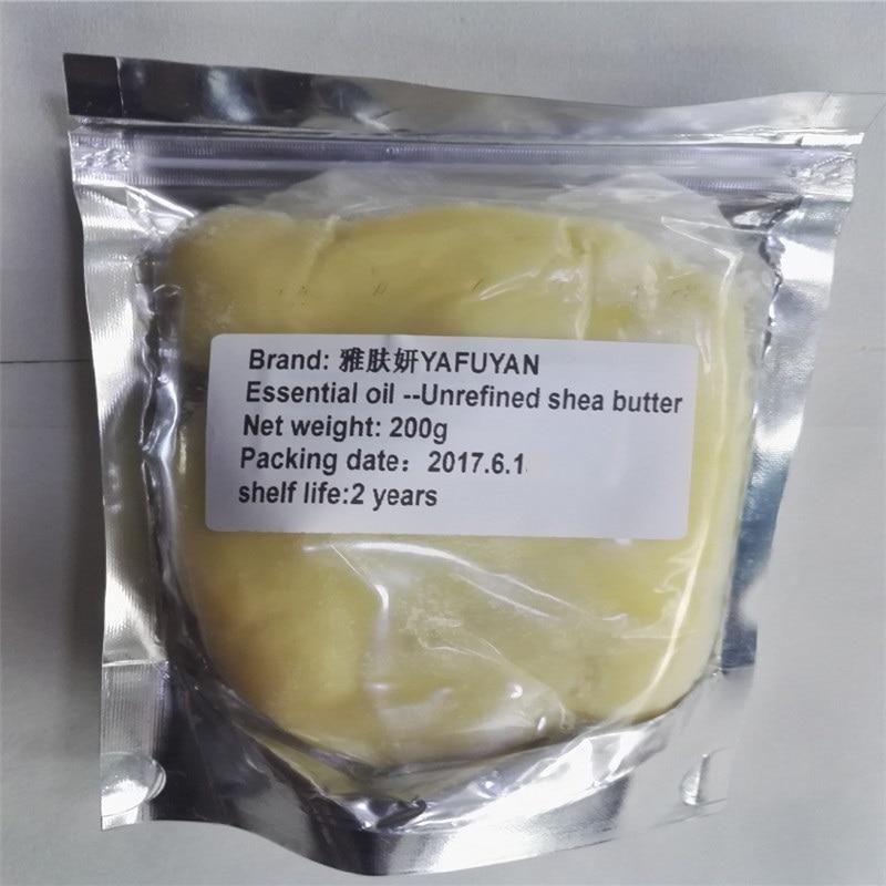 Эфирное масло yafuyan 200 г необработанные природные органические нерафинированное масло ши масло свежий Класс питательный увлажняющий морщин Уход за кожей