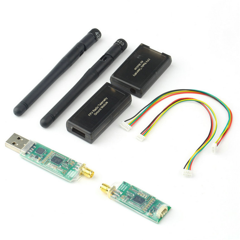 Hot 1pc 3DR Radio Telemetry Kit 433Mhz Module Open source for APM 2 5 2 6
