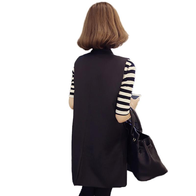 womens long sleevelesss vest