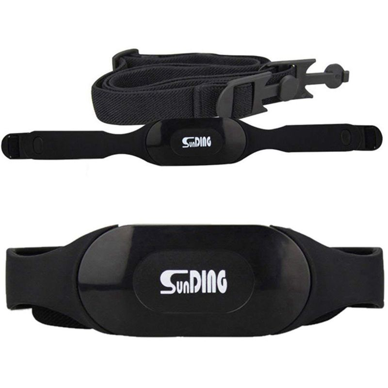 SunDING Bluetooth 4.0 Adjustable Wireless Sport Heart Rate Monitor Chest Belt Strap Band