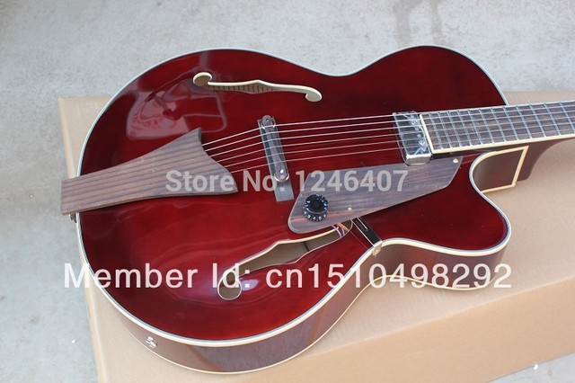 Cheap Manufacturers make best  L5 F half a hollow hole L5 jazz electric  guitar EMS free delivery
