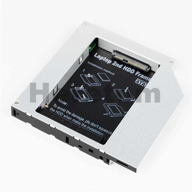 Heretom Alumínio IDE Universal para SATA 12.7mm 2nd HDD Caddy Para Laptop DELL HP ACER ASUS BENQ DVD DC-ROM baía óptica