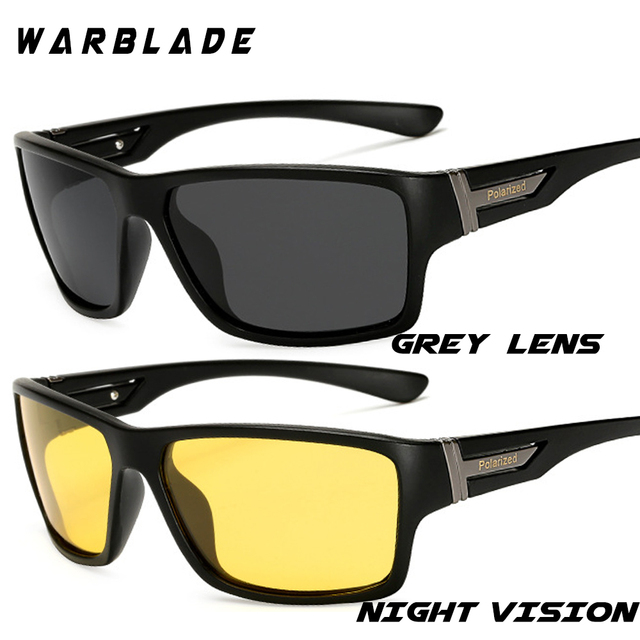 dc37bf548b WarBLade Night Vision Sunglasses for Men UV400 Protection Night Driving  Glasses Male HD Polarized Yellow Lens