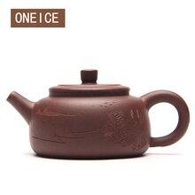Freies Verschiffen handgemachte topf Zufrieden segen schlamm topf Lila ton Tee-set teekannen Autor: zhou ting Hallo Qualität