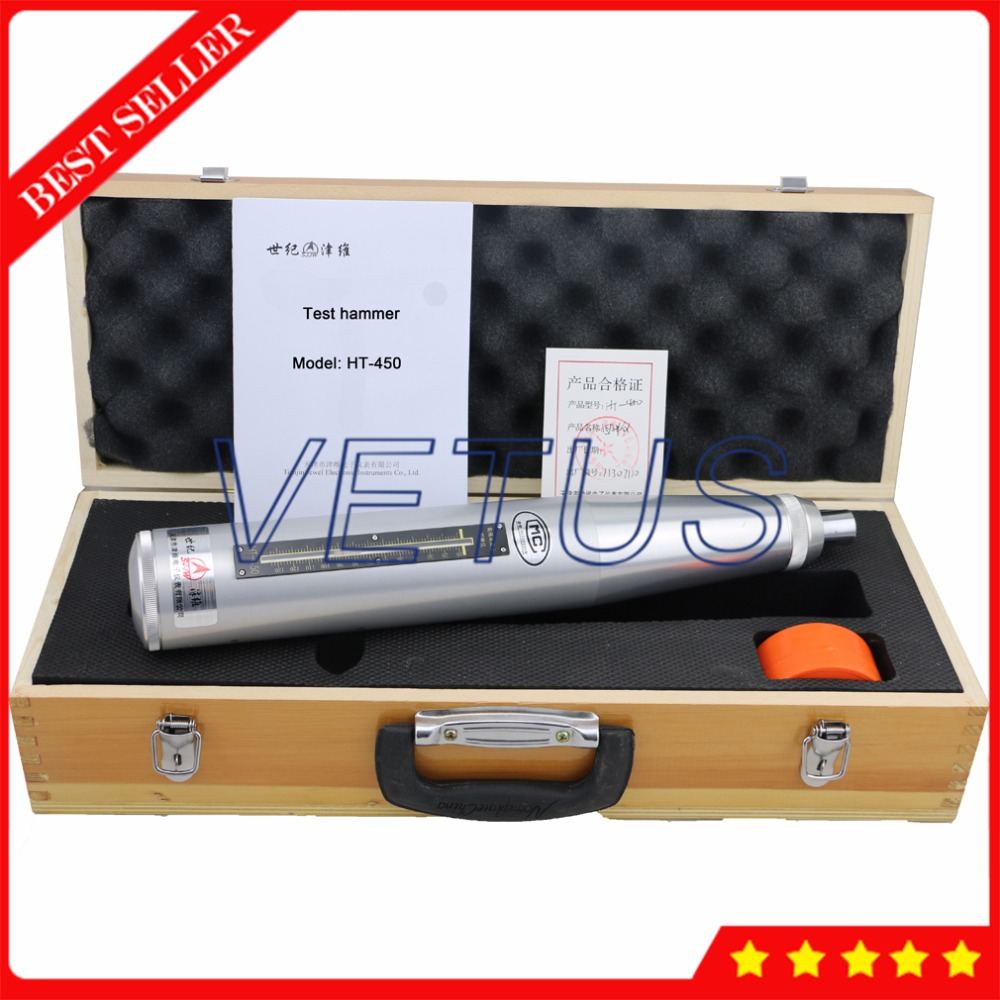 HT 450 High Strength Concrete Test Hammer Concrete Compressive Strength Tester with Super Hard Aluminums Shell