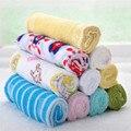 8 pçs/lote single towel lenço quadrado pequeno macio bonito do bebê para o infante crianças miúdo alimentação banho lavar o rosto
