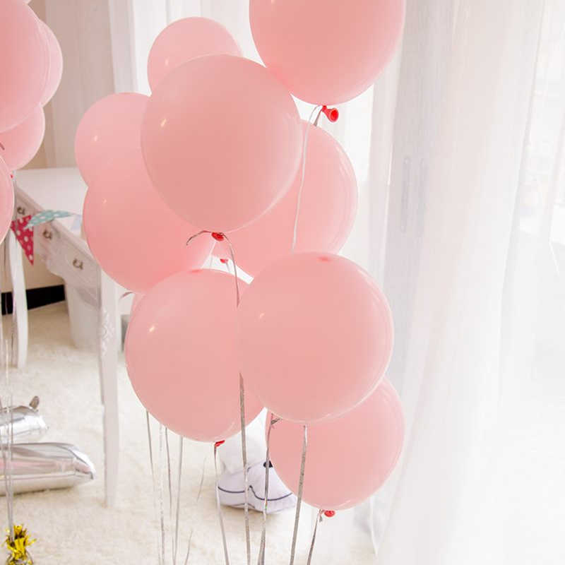 12pcs 2.3g Pink White 2.8g Transparent Balloons Latex Helium Balls Happy Birthday Party Supplies Baby Shower Wedding Decr globos