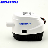 automatic 750GPH 24v bilge water pump submersible Fountain garden irrigation swimming pool clean transfer
