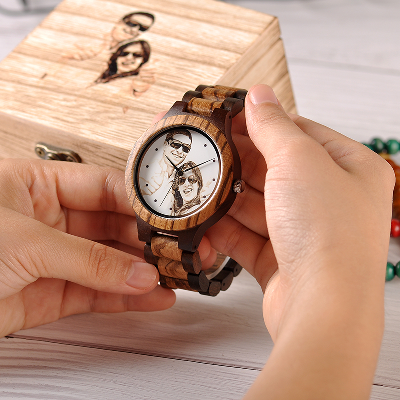Customizable Bamboo Wrist Watch For Lovers or Family 10