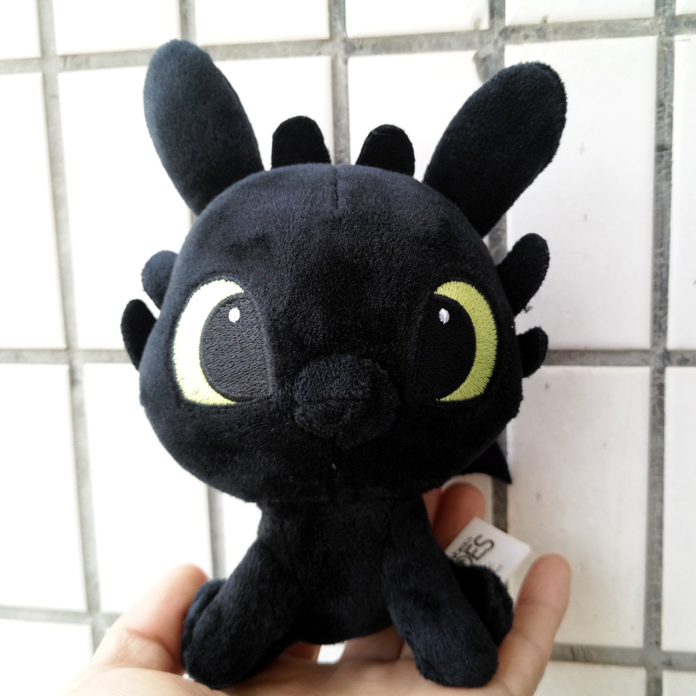 6 15cm mini Movie How to Train Your Dragon Night Fury Toothless soft plush toys for children gift for christmas how to fight a dragon s fury