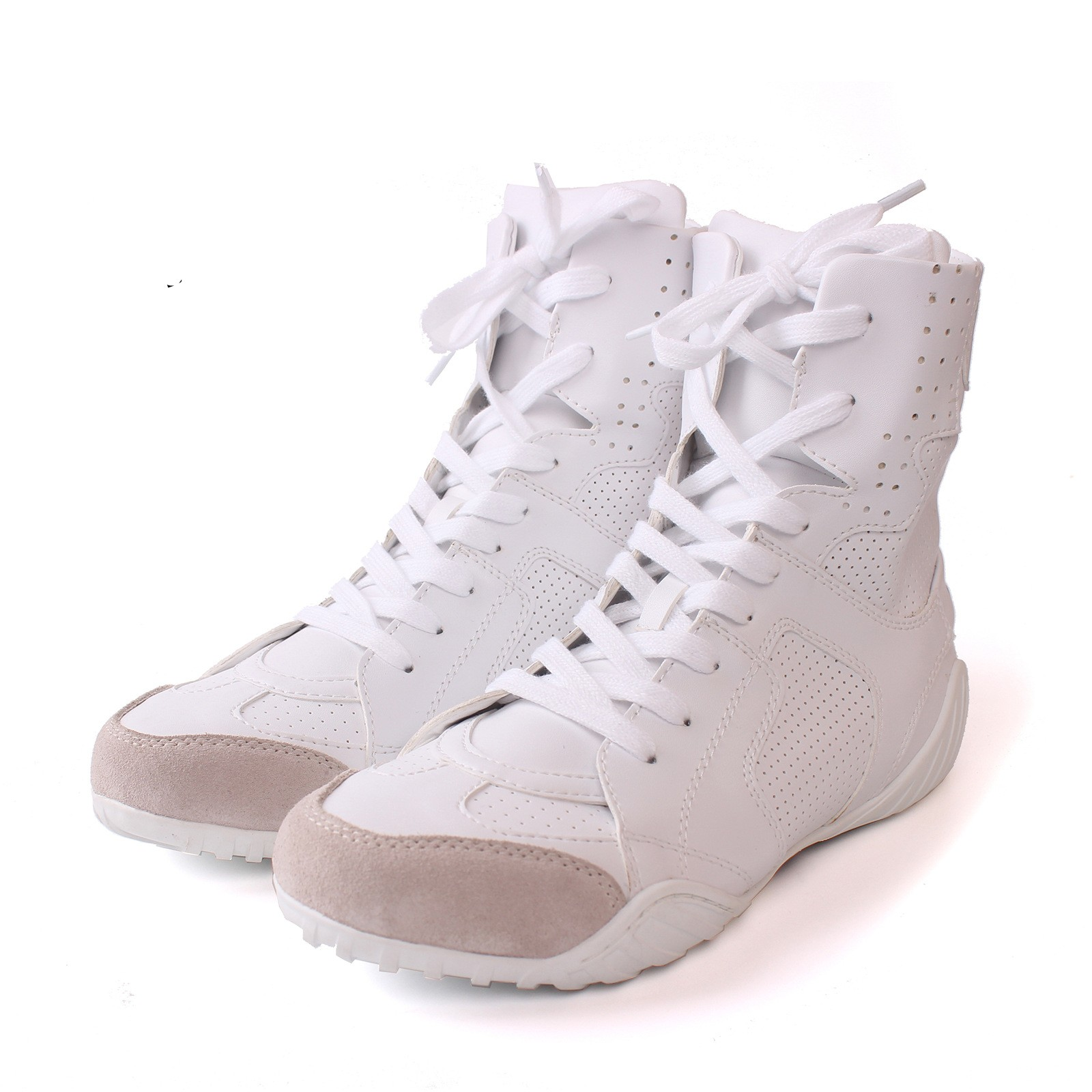 Fashion Sexy Style White Flats Heels Women's Boot Genuine Leather Lace Up Mid-Calf Boots Woman Cross Strap Boot Shoes SMYCN-1069 double buckle cross straps mid calf boots