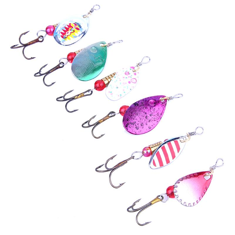 30pcs/box Metal Sequins Fishing Lures Spinner Spoon Fishing Bait Artificial Hard Baits Colorful Paillette Lure with Treble Hook wldslure 1pc 54g minnow sea fishing crankbait bass hard bait tuna lures wobbler trolling lure treble hook