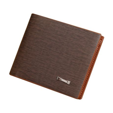 5pcs of 1 coffee leather men short paragraph fashion business imitation tree pattern wallet wallet contains: 2 big